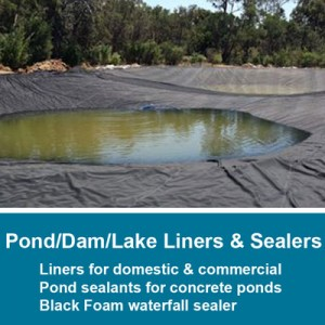 Pond, Dam & Lake Liner; Sealers